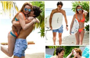Линдси Лохан наслаждается отпуском с сыном российского бизнесмена
