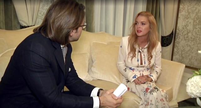 Линдси Лохан в России
