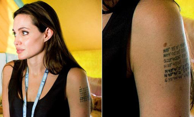 Джоли избавляется от татуировок