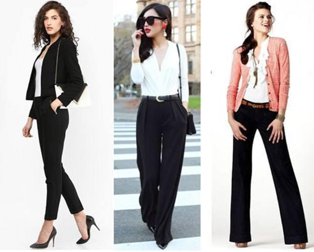 черные брюки женские с чем носить фото