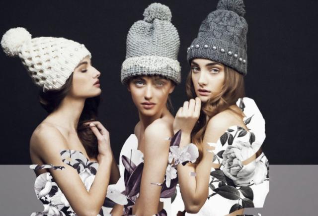 вязаные женские шапки